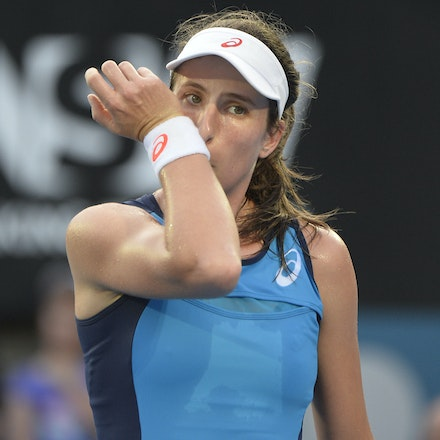 _PB13083 - 13th January 2017, Day 6, APIA International Sydney Tennis. Women Finals. Johanna KONTA (GBR) defeats Agnieszka RADWANSKA (POL) in straight...