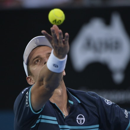 _PB13750 - 14th January 2017, Day 7, APIA International Sydney Tennis. Men's Final. Gilles MULLER (LUX) defeats Daniel EVANS (GBR) in straight sets 7-6...