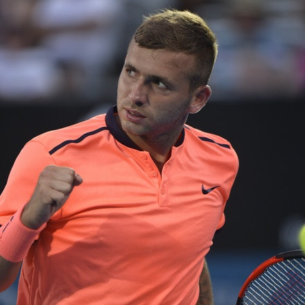 _PB13764 - 14th January 2017, Day 7, APIA International Sydney Tennis. Men's Final. Gilles MULLER (LUX) defeats Daniel EVANS (GBR) in straight sets 7-6...