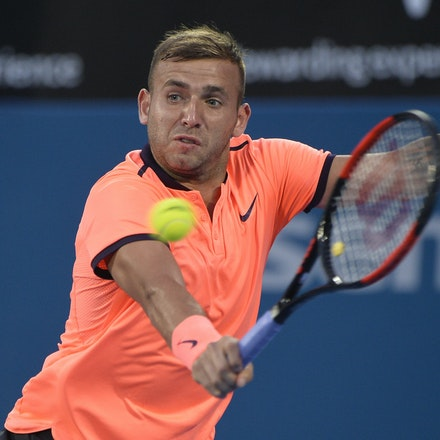 _PB13771 - 14th January 2017, Day 7, APIA International Sydney Tennis. Men's Final. Gilles MULLER (LUX) defeats Daniel EVANS (GBR) in straight sets 7-6...