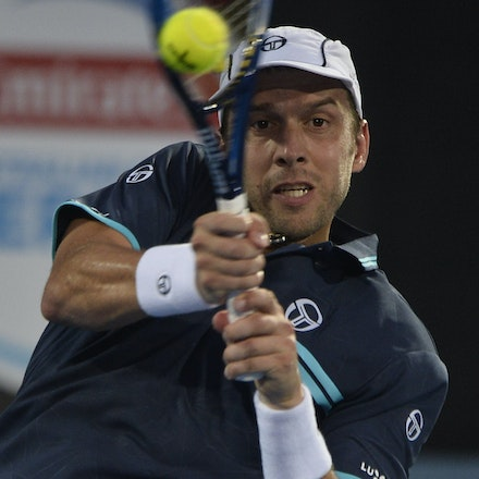 _PB13802 - 14th January 2017, Day 7, APIA International Sydney Tennis. Men's Final. Gilles MULLER (LUX) defeats Daniel EVANS (GBR) in straight sets 7-6...