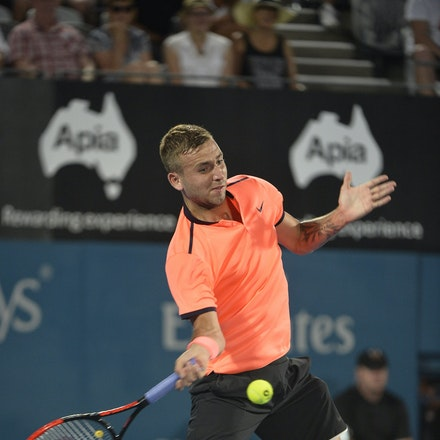 _PB13830 - 14th January 2017, Day 7, APIA International Sydney Tennis. Men's Final. Gilles MULLER (LUX) defeats Daniel EVANS (GBR) in straight sets 7-6...