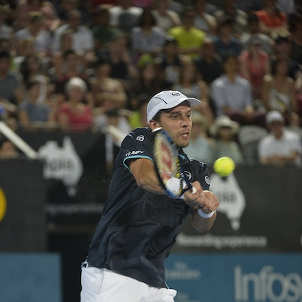 _PB13864 - 14th January 2017, Day 7, APIA International Sydney Tennis. Men's Final. Gilles MULLER (LUX) defeats Daniel EVANS (GBR) in straight sets 7-6...