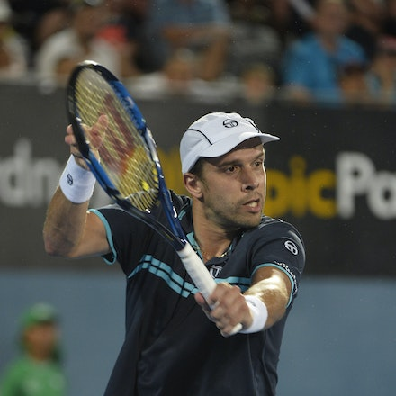 _PB13883 - 14th January 2017, Day 7, APIA International Sydney Tennis. Men's Final. Gilles MULLER (LUX) defeats Daniel EVANS (GBR) in straight sets 7-6...
