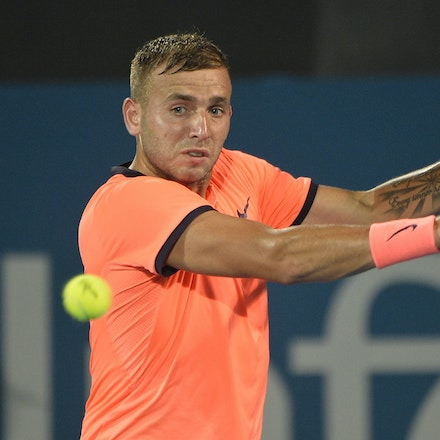 _PB13906 - 14th January 2017, Day 7, APIA International Sydney Tennis. Men's Final. Gilles MULLER (LUX) defeats Daniel EVANS (GBR) in straight sets 7-6...