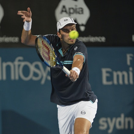 _PB13914 - 14th January 2017, Day 7, APIA International Sydney Tennis. Men's Final. Gilles MULLER (LUX) defeats Daniel EVANS (GBR) in straight sets 7-6...