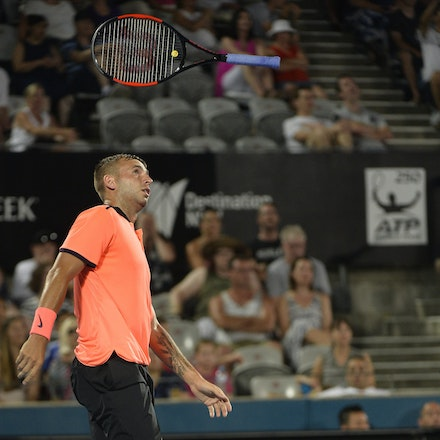 _PB13933 - 14th January 2017, Day 7, APIA International Sydney Tennis. Men's Final. Gilles MULLER (LUX) defeats Daniel EVANS (GBR) in straight sets 7-6...