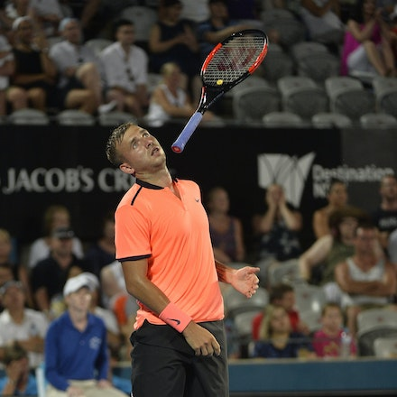 _PB13938 - 14th January 2017, Day 7, APIA International Sydney Tennis. Men's Final. Gilles MULLER (LUX) defeats Daniel EVANS (GBR) in straight sets 7-6...