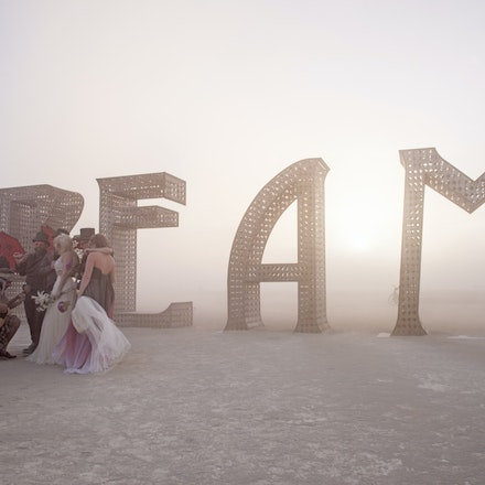 _DSC8105 - Craig and Louise get married at Burning Man in in the Nevada Desert. During the wedding a dust storm came through, said to be one of the worst...