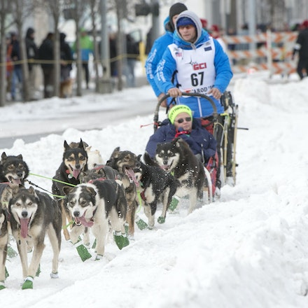 _PB10211 - 2016, March 5th. The Ceremonial start to the 2016 Itidarod, Dogsled race held in Anchorage. Dubbed as the Last Great Race. There was not enough...