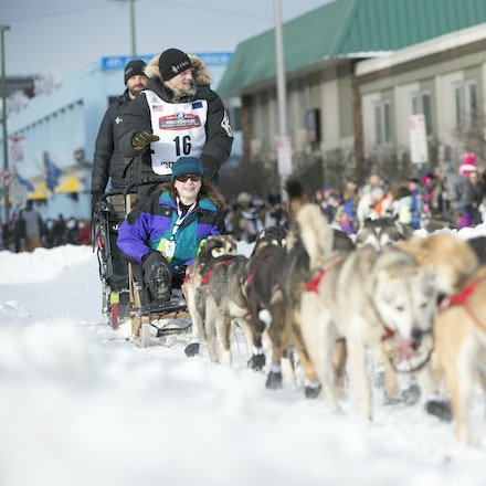 _PB19300 - 2016, March 5th. The Ceremonial start to the 2016 Itidarod, Dogsled race held in Anchorage. Dubbed as the Last Great Race. There was not enough...