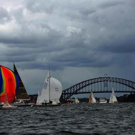 DSC_2952 - 5.03.2011 Audi Sydney Harbour Regatta, Sydney Harbour Australia. Competitors sail around Sydney Harbour in not the best conditions caused by...