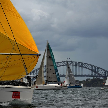 DSC_2973 - 5.03.2011 Audi Sydney Harbour Regatta, Sydney Harbour Australia. Competitors sail around Sydney Harbour in not the best conditions caused by...