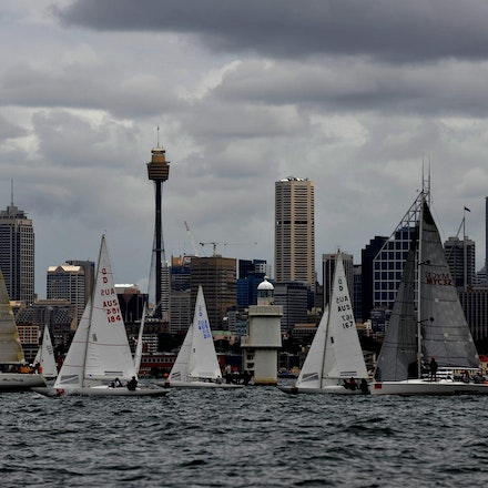 DSC_3074 - 5.03.2011 Audi Sydney Harbour Regatta, Sydney Harbour Australia. Competitors sail around Sydney Harbour in not the best conditions caused by...