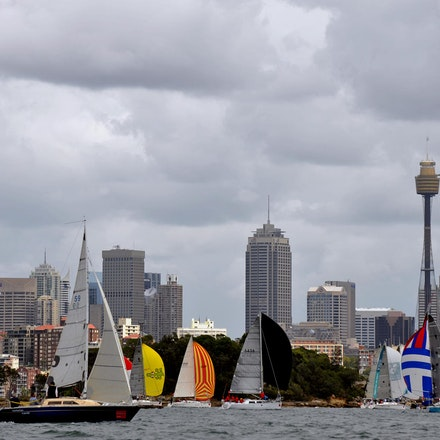 DSC_3184 - 5.03.2011 Audi Sydney Harbour Regatta, Sydney Harbour Australia. Competitors sail around Sydney Harbour in not the best conditions caused by...