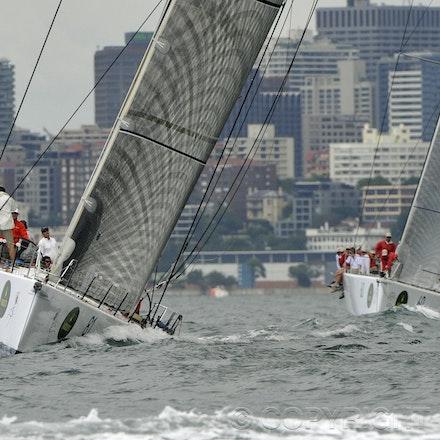 _DSC0931 - 17.12.2011. Sydney, Australia. Day 3. Rolex Trophy Passage Series. Lahana Skippered by Millard Honan and Loki skippered by Stephen Ainsworth...