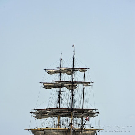 _DSC1036 - A tall ship cruising out to sea