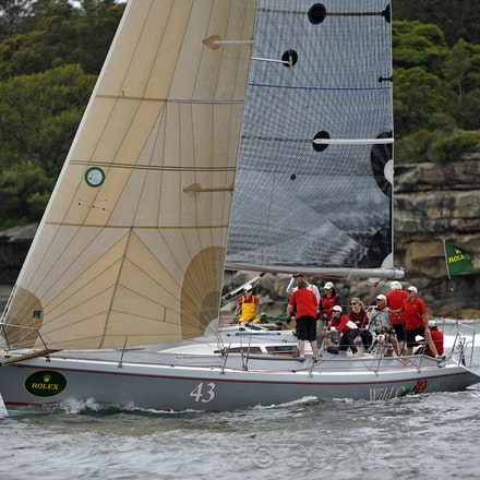 _DSC1833 - 18.12.2011. Sydney, Australia. Day 3. Rolex Trophy Passage Series. Wild Rose skippered by Roger Hickman in action