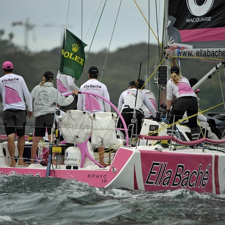 _DSC3456 - 26.12.2011. Sydney, Australia. Rolex Sydney to Hobart Yacht Race 2011. Jessica Watson skippers her boat Ella Bache. Her crew is the youngest...