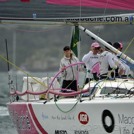 _DSC3570 - 26.12.2011. Sydney, Australia. Rolex Sydney to Hobart Yacht Race 2011. Jessica Watson skippers her boat Ella Bache. Her crew is the youngest...
