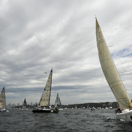 _DSC3586 - 26.12.2011. Sydney, Australia. Rolex Sydney to Hobart Yacht Race 2011. Last Tango, Dump and Burn and Dodo prepare for the start of the race.