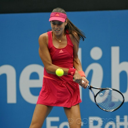 201201_Blakeman_001404 - 08.01.2012 Australian Apia International from Sydney.Lucie Safarova (CZE) V Ana Ivanovic (SRB) on centre court at Sydney Olympic...