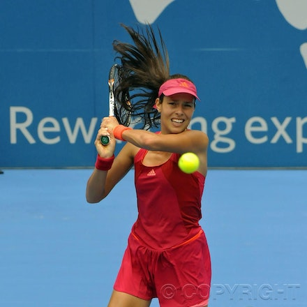 201201_Blakeman_001619 - 08.01.2012 Australian Apia International from Sydney.Lucie Safarova (CZE) V Ana Ivanovic (SRB) on centre court at Sydney Olympic...