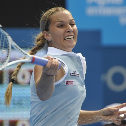 201201_Blakeman_001853 - 08.01.2012 Australian Apia International from Sydney. Dominika cibulkova ((SVK) V Shuai Peng (Chn) on centre court at Sydney Olympic...