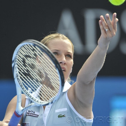 201201_Blakeman_001876 - 08.01.2012 Australian Apia International from Sydney. Dominika cibulkova ((SVK) V Shuai Peng (Chn) on centre court at Sydney Olympic...