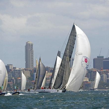 Blakeman_201212_Passage_7909 - 26/12/12, Sydney, Australia, Start of the Sydney to Hobart on Sydney Harbour