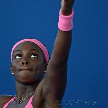 Blakeman_201212_tennis_10032 - 31/12/12, Brisbane, Australia, Day 2 of the Brisbane International Tennis held on Pat Rafter Arena. Sloane STEPHENS (USA)...