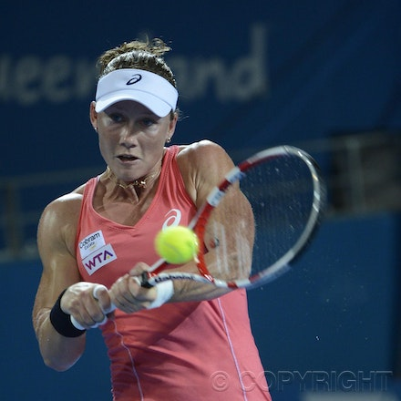 Blakeman_201212_tennis_10099 - 31/12/12, Brisbane, Australia, Day 2 of the Brisbane International Tennis held on Pat Rafter Arena. Sofia ARVIDSSON (SWE)...