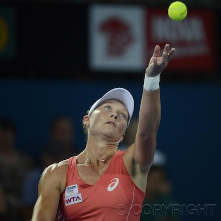 Blakeman_201212_tennis_10114 - 31/12/12, Brisbane, Australia, Day 2 of the Brisbane International Tennis held on Pat Rafter Arena. Sofia ARVIDSSON (SWE)...