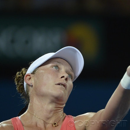 Blakeman_201212_tennis_10116 - 31/12/12, Brisbane, Australia, Day 2 of the Brisbane International Tennis held on Pat Rafter Arena. Sofia ARVIDSSON (SWE)...