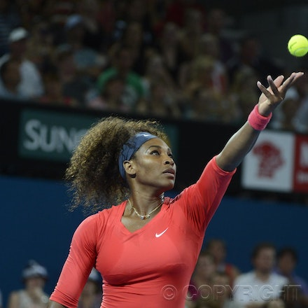 Blakeman_2013_0000371 - 1/1/13, Brisbane, Australia, Day 3 of the Brisbane International Tennis Held on Pat Rafter Arena. Serena WILLIAMS (USA) defeats...