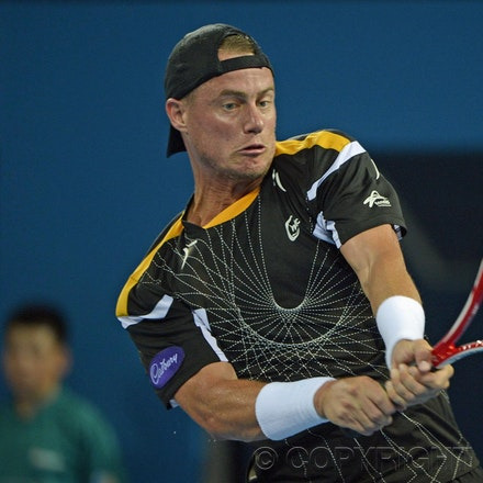Blakeman_2013_0000707 - 1/1/13, Brisbane, Australia, Day 3 of the Brisbane International Tennis Held on Pat Rafter Arena. Lleyton HEWITT (AUS) Vs Radek...