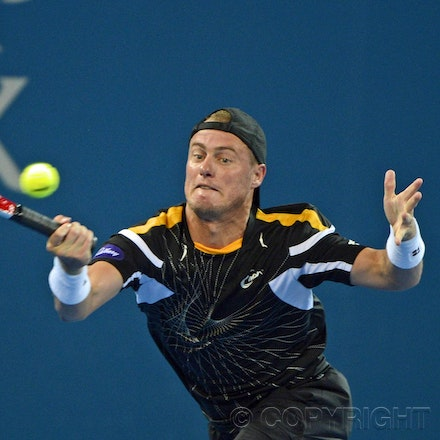 Blakeman_2013_0000822 - 1/1/13, Brisbane, Australia, Day 3 of the Brisbane International Tennis Held on Pat Rafter Arena. Lleyton HEWITT (AUS) Vs Radek...