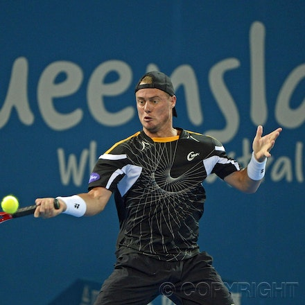 Blakeman_2013_0000830 - 1/1/13, Brisbane, Australia, Day 3 of the Brisbane International Tennis Held on Pat Rafter Arena. Lleyton HEWITT (AUS) Vs Radek...