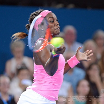 Blakeman_2013_0002501 - 3/1/13, Brisbane, Australia, Day 5 of the Brisbane International Tennis Held on Pat Rafter Arena. Serena WILLIAMS (USA) defeats...