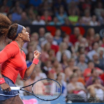 Blakeman_2013_0002546 - 3/1/13, Brisbane, Australia, Day 5 of the Brisbane International Tennis Held on Pat Rafter Arena. Serena WILLIAMS (USA) defeats...