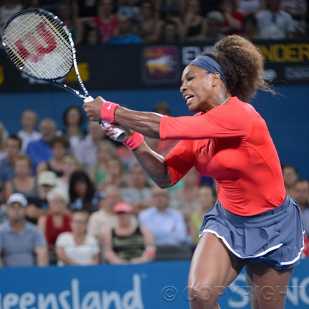 Blakeman_2013_0002575 - 3/1/13, Brisbane, Australia, Day 5 of the Brisbane International Tennis Held on Pat Rafter Arena. Serena WILLIAMS (USA) defeats...