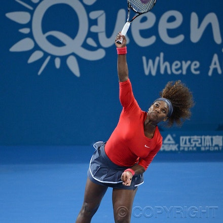 Blakeman_2013_0002594 - 3/1/13, Brisbane, Australia, Day 5 of the Brisbane International Tennis Held on Pat Rafter Arena. Serena WILLIAMS (USA) defeats...