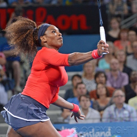 Blakeman_2013_0002653 - 3/1/13, Brisbane, Australia, Day 5 of the Brisbane International Tennis Held on Pat Rafter Arena. Serena WILLIAMS (USA) defeats...