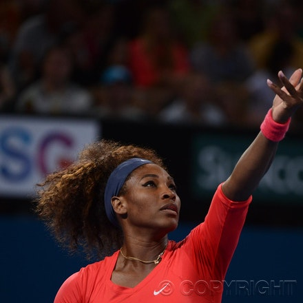 Blakeman_2013_0003301 - 5/1/13, Brisbane, Australia, Day 7 of the Brisbane International Tennis Held on Pat Rafter Arena. Serena WILLIAMS (USA) defeats...