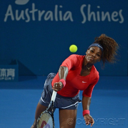 Blakeman_2013_0003332 - 5/1/13, Brisbane, Australia, Day 7 of the Brisbane International Tennis Held on Pat Rafter Arena. Serena WILLIAMS (USA) defeats...