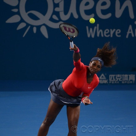 Blakeman_2013_0003334 - 5/1/13, Brisbane, Australia, Day 7 of the Brisbane International Tennis Held on Pat Rafter Arena. Serena WILLIAMS (USA) defeats...