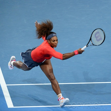 Blakeman_2013_0003369 - 5/1/13, Brisbane, Australia, Day 7 of the Brisbane International Tennis Held on Pat Rafter Arena. Serena WILLIAMS (USA) defeats...