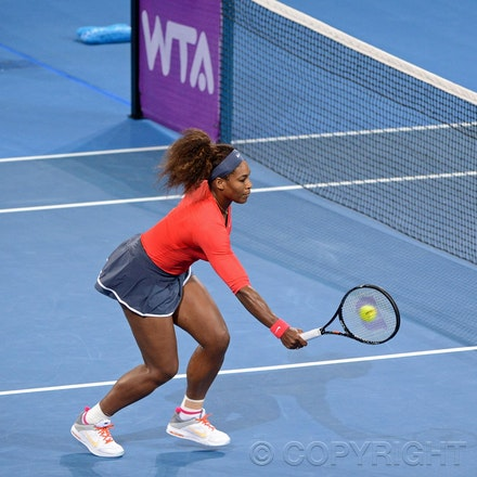 Blakeman_2013_0003374 - 5/1/13, Brisbane, Australia, Day 7 of the Brisbane International Tennis Held on Pat Rafter Arena. Serena WILLIAMS (USA) defeats...