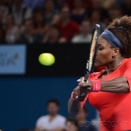 Blakeman_2013_0003430 - 5/1/13, Brisbane, Australia, Day 7 of the Brisbane International Tennis Held on Pat Rafter Arena. Serena WILLIAMS (USA) defeats...