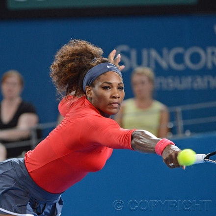 Blakeman_2013_0003434 - 5/1/13, Brisbane, Australia, Day 7 of the Brisbane International Tennis Held on Pat Rafter Arena. Serena WILLIAMS (USA) defeats...